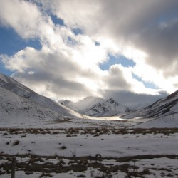 Lindis Pass in Winter New Zealand