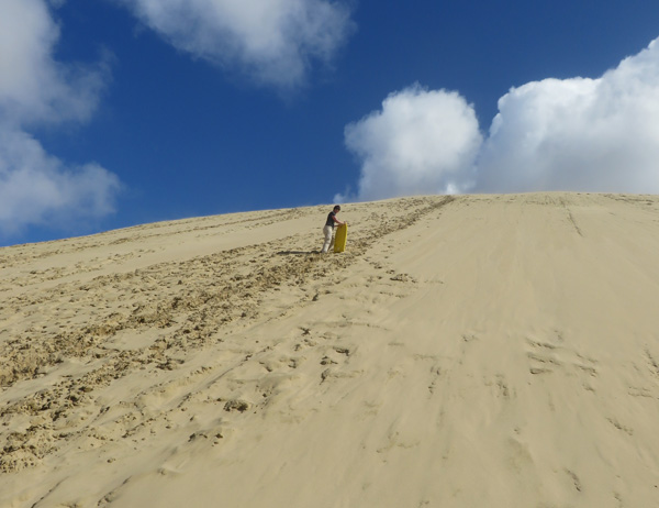 Sand Surfing in Te Paki, New zealand