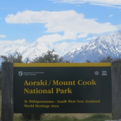 mount cook sign new zealand