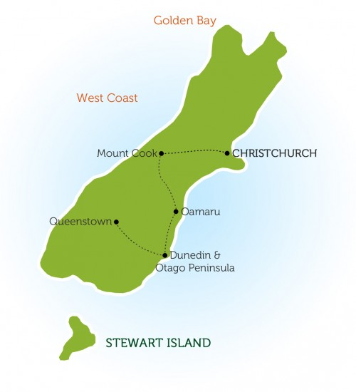 south island new zealand 8 day itinerary